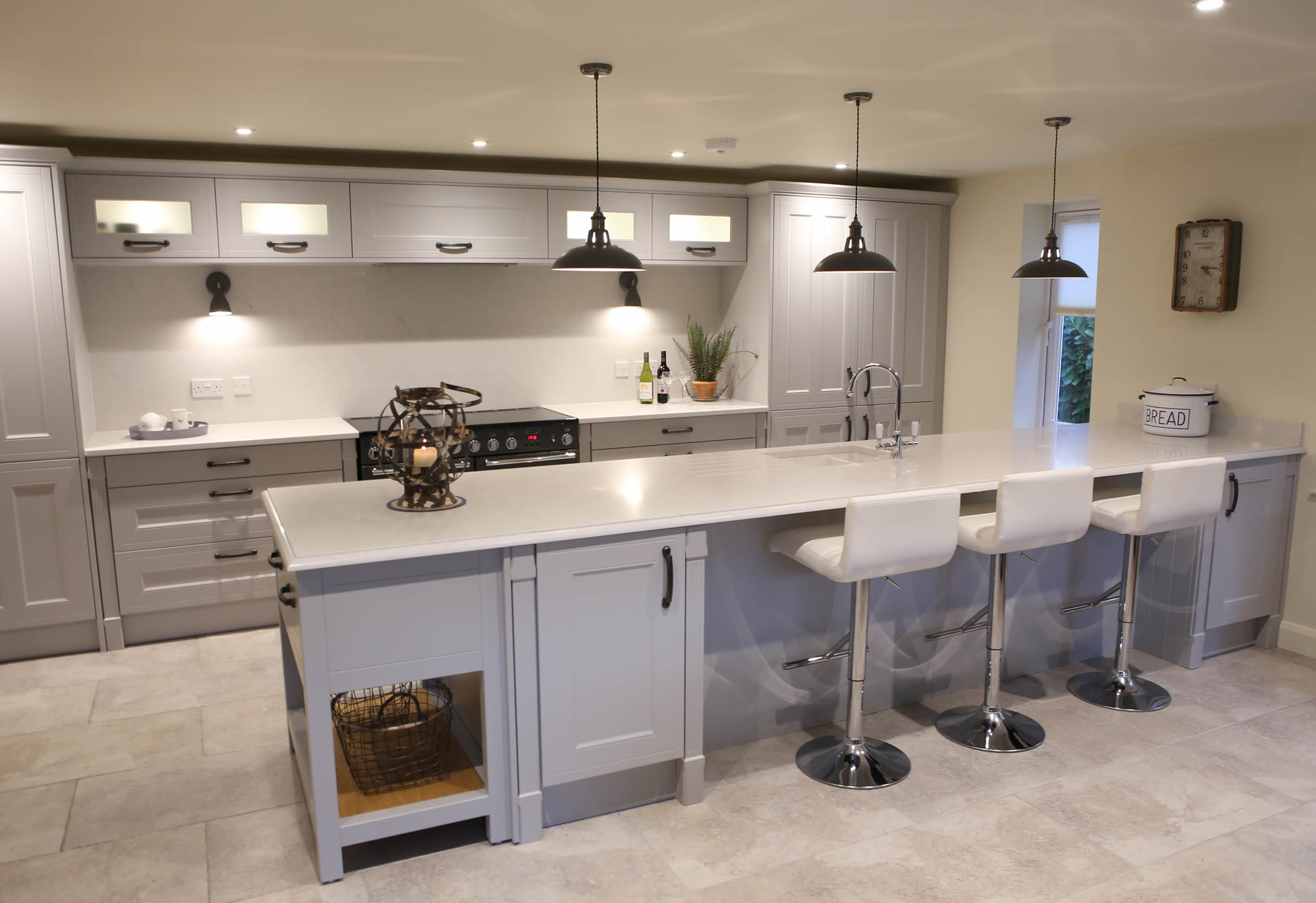 New shaker-style kitchen at Deben near Stowmarket, Suffolk