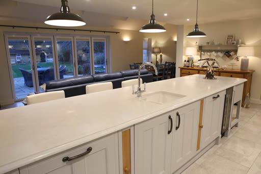 traditionally-painted kitchen in Debenham, Suffolk